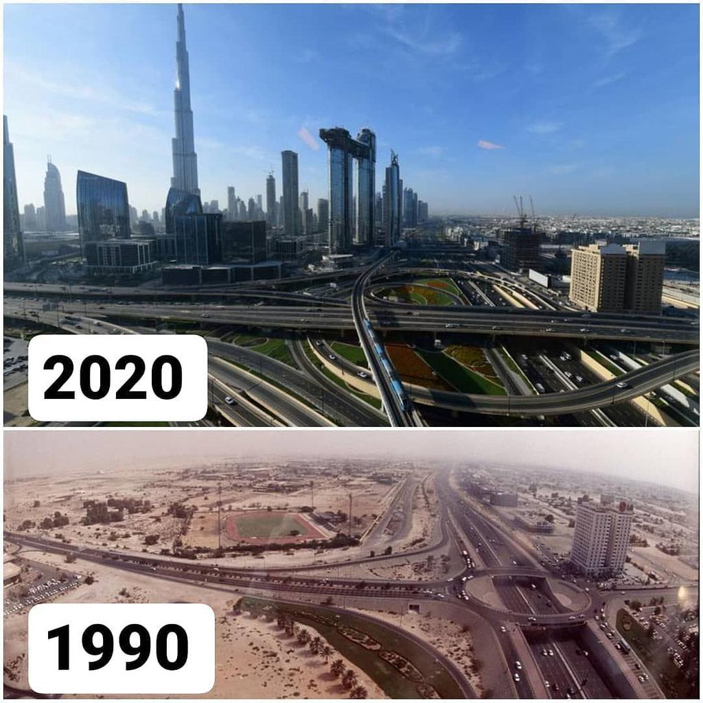 Dubai changing over time