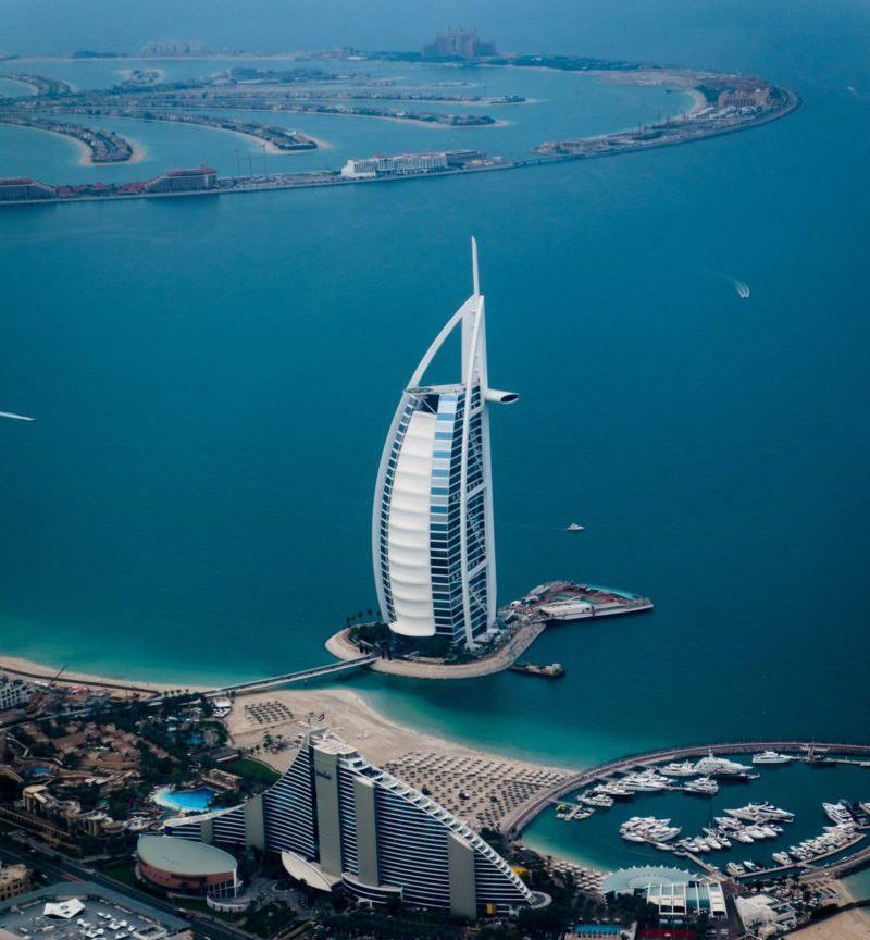 Burj Al Arab and Palm Jumeriah in Dubai